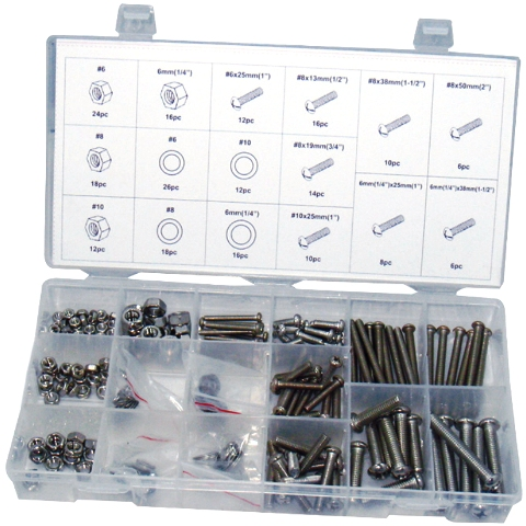 DURATOOL 224PCS NUT AND BOLT SET