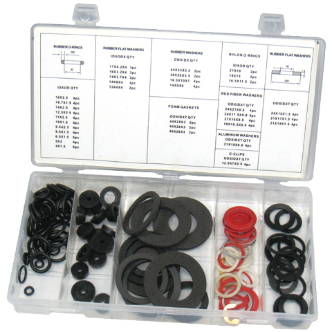 DURATOOL 125PCS TAP WASHER KIT