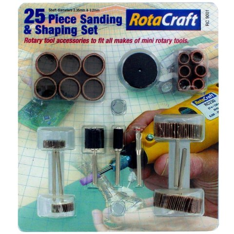 ROTACRAFT 25PCS SANDING & SHAPING SET