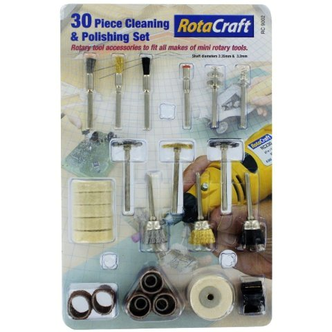 ROTACRAFT 30PCS CLEANING & POLISHING SET
