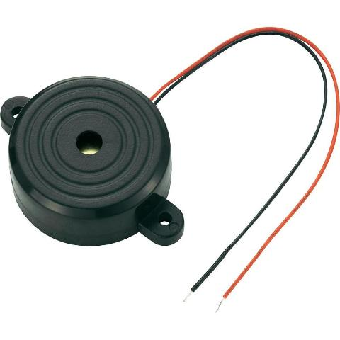 PRO-SIGNAL FLANGED MOUNTED PIEZO BUZZER WITH LEADS