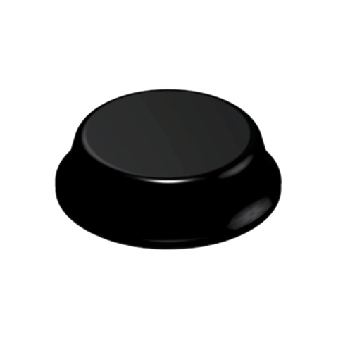 רגליות גומי שחורות נדבקות - פרופיל עגול - 12.7X3.5 מ
