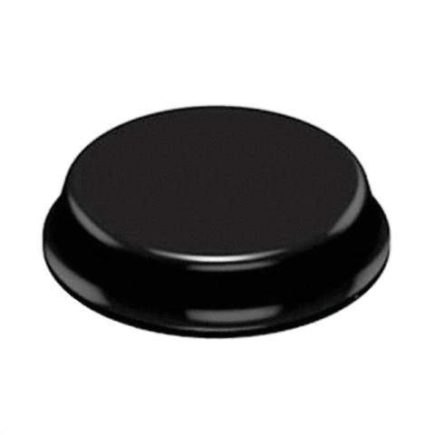 רגליות גומי שחורות נדבקות - פרופיל עגול - 20.0X5.0 מ