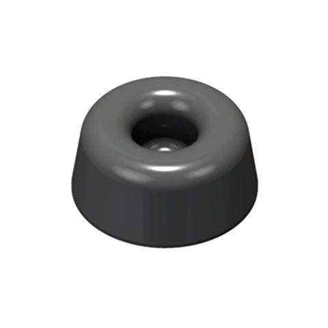 רגליות גומי אפורות נדבקות - פרופיל עגול - 22.3X10.1 מ