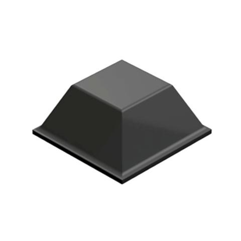 רגליות גומי אפורות נדבקות - פרופיל מרובע - 12.7X5.8 מ