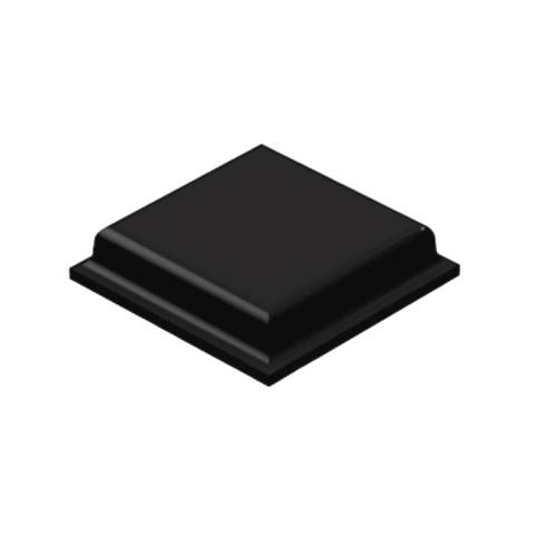 רגליות גומי שחורות נדבקות - פרופיל מרובע - 10.2X2.5 מ