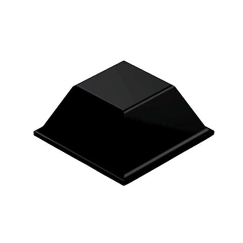 רגליות גומי שחורות נדבקות - פרופיל מרובע - 12.7X5.8 מ