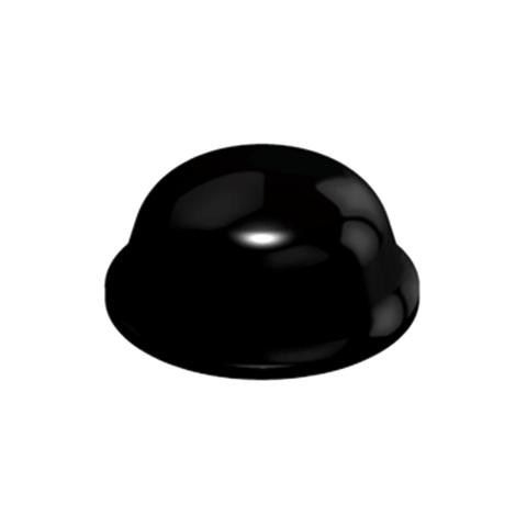 רגליות גומי שחורות נדבקות - פרופיל עגול - 11.1X5.0 מ