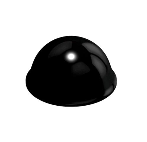 רגליות גומי שחורות נדבקות - פרופיל עגול - 16.0X7.9 מ