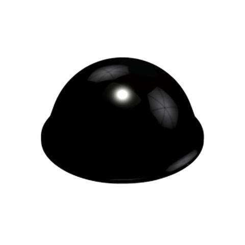רגליות גומי שחורות נדבקות - פרופיל עגול - 19.0X9.6 מ