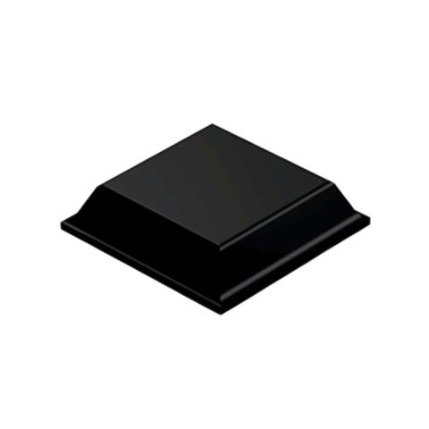 רגליות גומי שחורות נדבקות - פרופיל מרובע - 12.7X3.1 מ