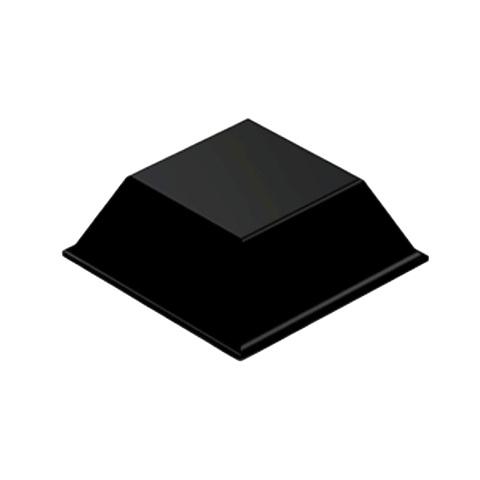 רגליות גומי שחורות נדבקות - פרופיל מרובע - 20.5X7.6 מ