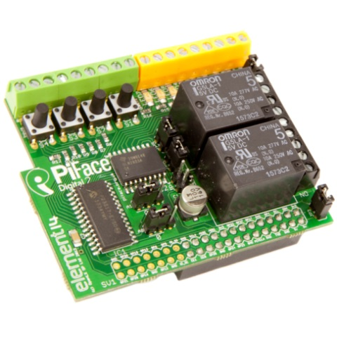 PIFACE DIGITAL 2 - I/O EXPANSION BOARD FOR THE RASPBERRY PI
