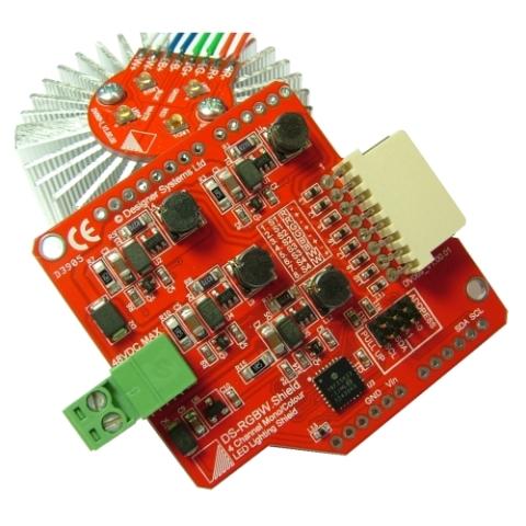 כרטיס הרחבה LED LIGHTING SHIELD עבור RASPBERRY PI DESIGNER SYSTEMS