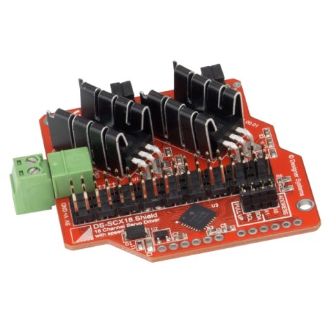 DESIGNER SYSTEMS SERVO DRIVER MOD FOR THE ARDUINO UNO