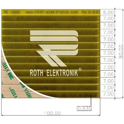 לוח פסי מגעים SMD נדבקים - PITCH 0.635MM ROTH ELEKTRONIK
