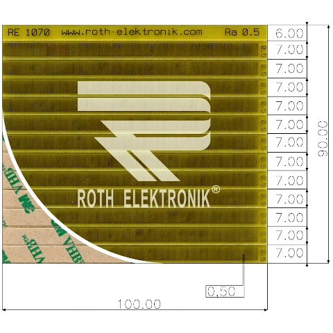 לוח פסי מגעים SMD נדבקים - PITCH 0.50MM ROTH ELEKTRONIK