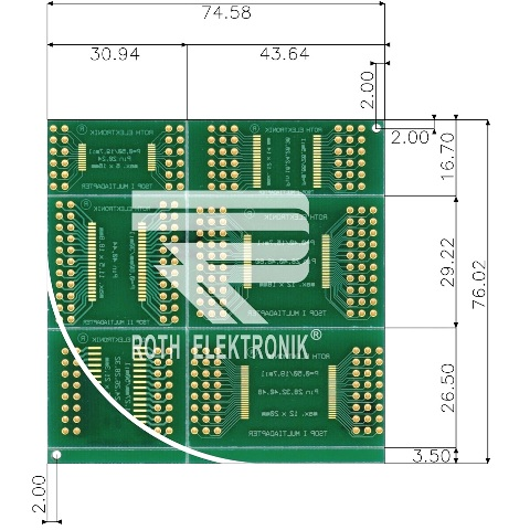ROTH ELEKTRONIK MULTIADAPTER PROTOTYPING BOARDS - RE900 SERIES