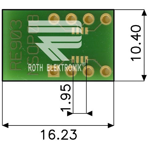 ROTH ELEKTRONIK MSOP MULTIADAPTER PROTOTYPING BOARDS - RE90X SERIES