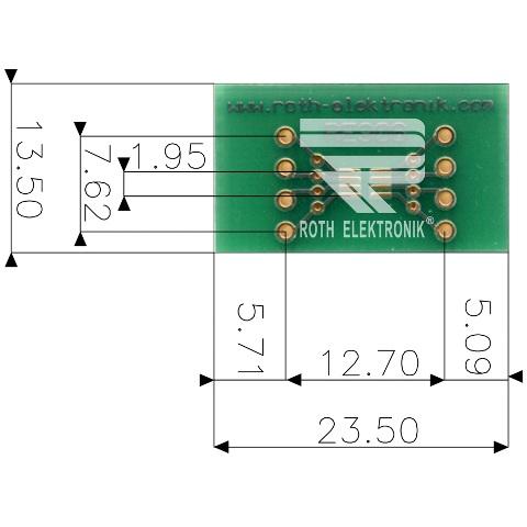 לוח מתאם לרכיבי SOT23 / SC70 ~ DIP - SMD ROTH ELEKTRONIK