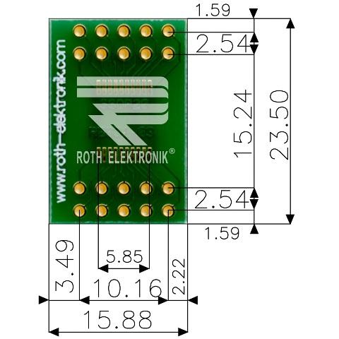 לוח מתאם לרכיבי SSOP-20 ~ DIP - SMD ROTH ELEKTRONIK