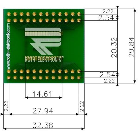 לוח מתאם לרכיבי SSOP-48 ~ DIP - SMD ROTH ELEKTRONIK