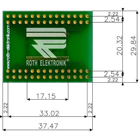 לוח מתאם לרכיבי SSOP-56 ~ DIP - SMD ROTH ELEKTRONIK