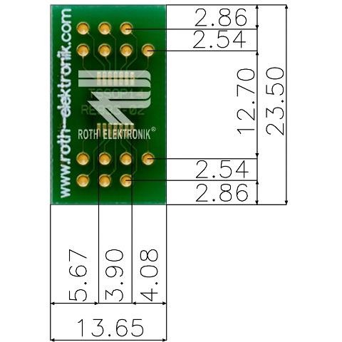 לוח מתאם לרכיבי TSSOP-14 ~ DIP - SMD ROTH ELEKTRONIK