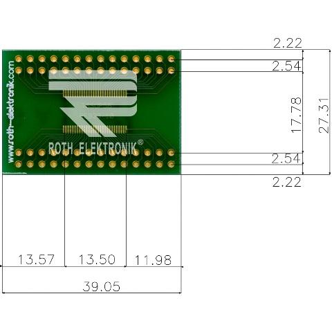 לוח מתאם לרכיבי TSSOP-56 ~ DIP - SMD ROTH ELEKTRONIK