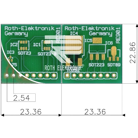 ROTH ELEKTRONIK SOT23 / SC70 MULTIADAPTER PROTOTYPING BOARD - RE901