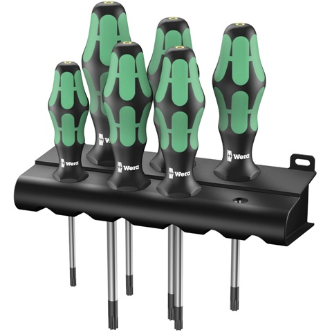 WERA TORX HF KRAFTFORM PLUS SCREWDRIVER SET - 367/6 HF