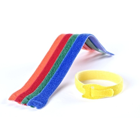 VELCRO 12MM X 0.2M MULTICOLOR CABLE TIES - VEL-EC60250