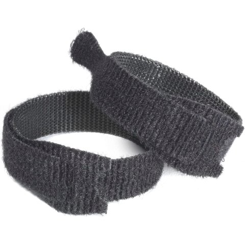 VELCRO 12MM X 0.2M BLACK CABLE TIES - VEL-EC60466