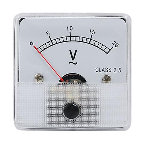מד מתח (וולטמטר) אנלוגי - 81X81MM 0-300V MULTICOMP