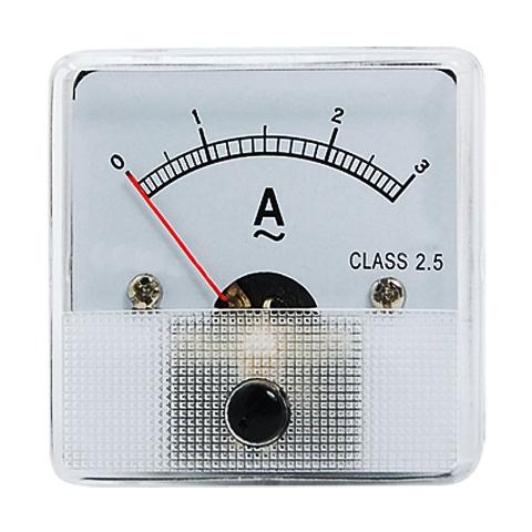 מד זרם (אמפרמטר) אנלוגי - 45X45MM 0-20MA MULTICOMP