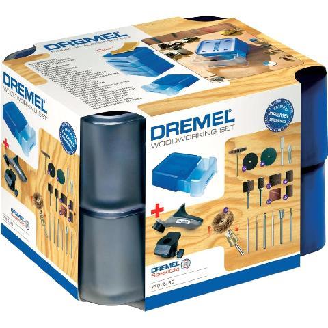 DREMEL 81 PIECE WOODWORKING MODULAR ACCESSORY SET - 730
