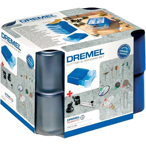ערכת 40 אביזרי חיתוך והשחזה למשחזת ציר - DREMEL 731 DREMEL