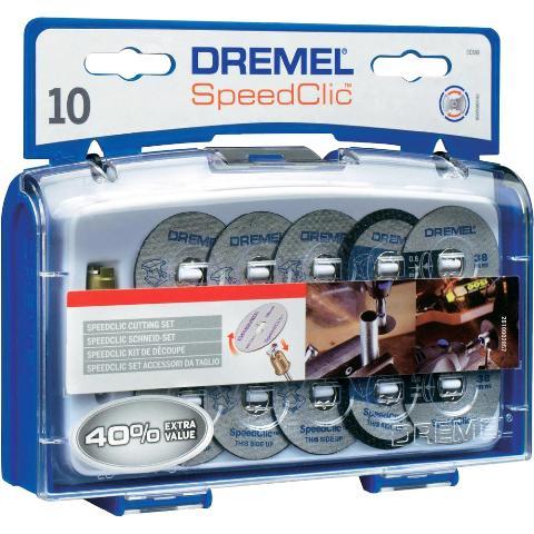 DREMEL 10 PIECE EZ SPEEDCLIC CUTTING ACCESSORY SET - SC690