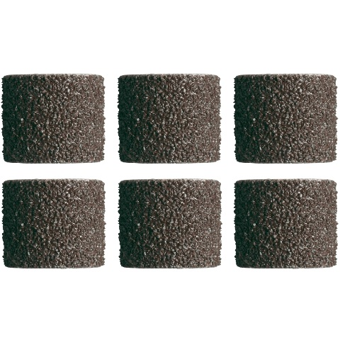 DREMEL 6 PIECE 13MM 60 GRIT SANDING BANDS - 408