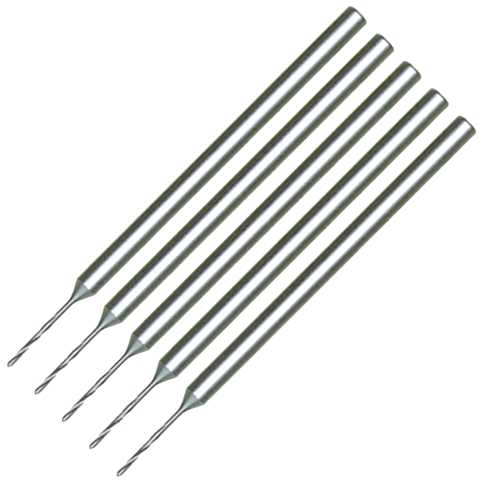 חבילת מקדחים - 0.8MM X 38MM - HP SHANK MULTICOMP