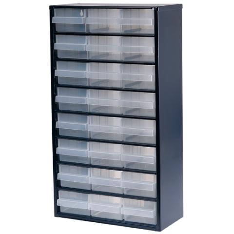 ארונית פלדה לאחסון רכיבים - 24 מגירות - 552X306X150MM RAACO