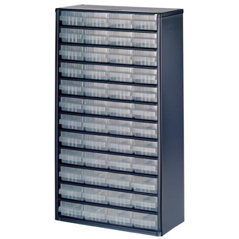 ארונית פלדה לאחסון רכיבים - 48 מגירות - 552X306X150MM RAACO