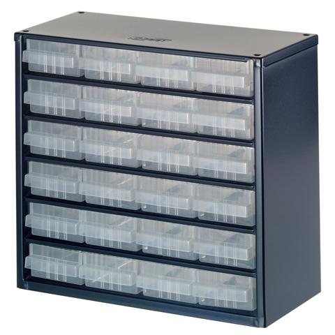 ארונית פלדה לאחסון רכיבים - 24 מגירות - 306X282X150MM RAACO