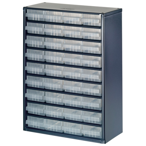 ארונית פלדה לאחסון רכיבים - 36 מגירות - 417X306X150MM RAACO