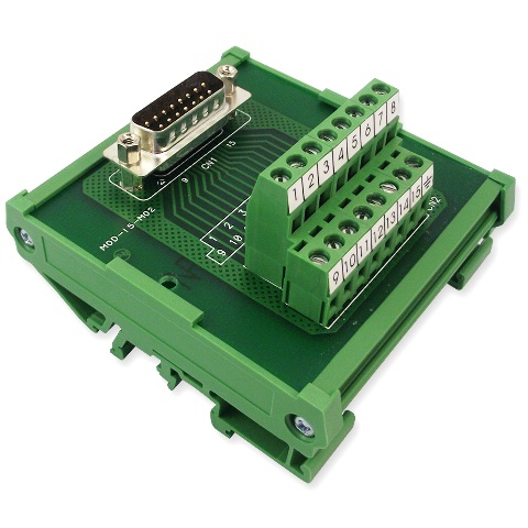 טרמינל בלוק - DB15 PLUG INTERFACE MODULE MULTICOMP