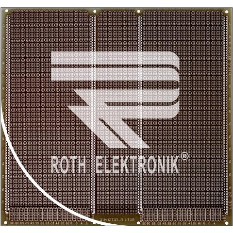 לוח נקודות הלחמה דו צדדי - 233X220MM FR4 ROTH ELEKTRONIK