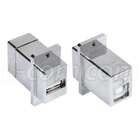 מתאם מסוכך לפנל (USB A (F) - USB B (F L-COM