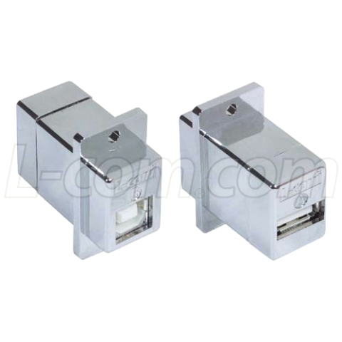 מתאם מסוכך לפנל (USB B (F) - USB A (F L-COM