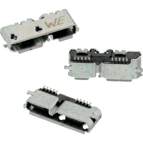 שקע (USB3.0 (MICRO B זוויתי למעגל מודפס - SMD WURTH ELEKTRONIK