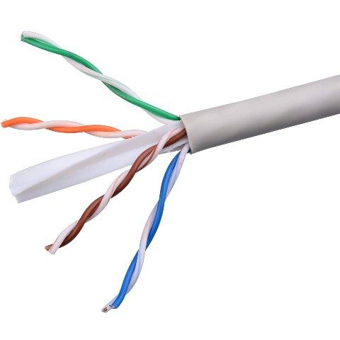 כבל רשת קשיח - CAT6 UTP - גליל 305 מטר PRO-POWER